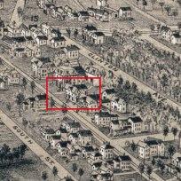 113 Pleasant Avenue from 1886 bird's eye view of Deering.