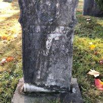 Katie Elwell grave in Evergreen. FindAGrave.com