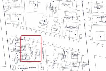 136 Pleasant Street on the 1882 Goodwin Atlas Portland Public Library Digital Commons.