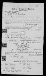 1866 Passport for John and Charlotte Burnham. Family Search.org