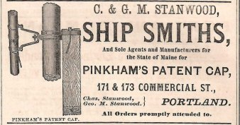 Charles and George Stanwood's advertisement in the 1873 city directory. Author's collection