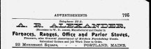 AR Alexander advertisement from the 1910 city directory.
