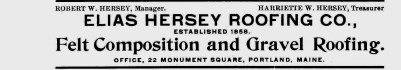 Elias Hersey advertisement from the 1907 city directory.