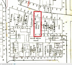 196 Danforth Street on the Goodwin Street map of 1882. Library of Congress