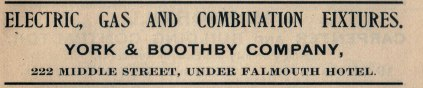 York & Boothby advertisement from the 1910 city directory. Authors collection.