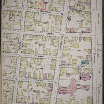 19 Anderson Street in the 1886 Sanborn insurance map. Library of Congress