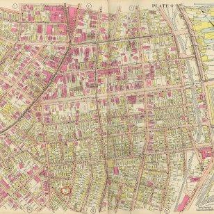 33 Cushman Street on the 1914 Richardson Atlas.